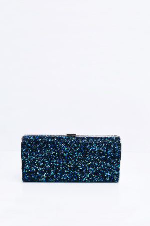 DREAM BLUE RHINSETONE PANEL PURSE