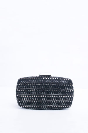 BLACK VELVET STONE SPLASH PURSE
