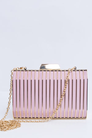 LILAC & GOLD PANEL PURSE
