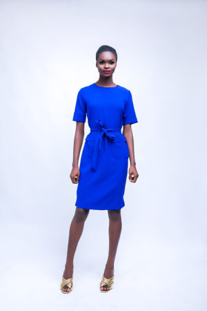 HANNAH COBALT BLUE DOUBLE POCKET BOX TUNIC