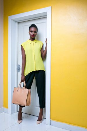 CAP SLEEVES PLEATED BACK BLOUSE - Debras Grace 5 Looks for the week