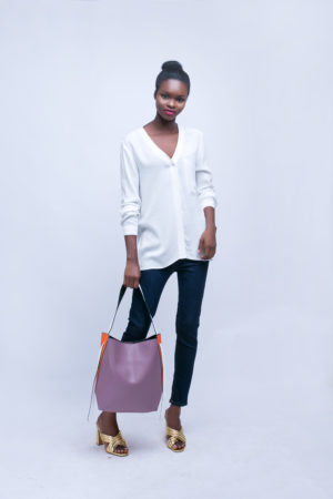 IVORY V NECK ONE POCKET SHIRT