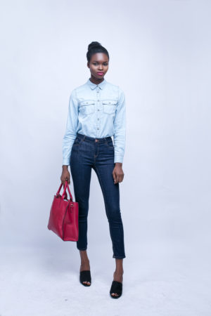 LIGHT WASH DENIM LONGSLEEVE SHIRT