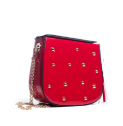 PATENT STUDDED BAG