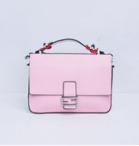 PINK & GREY DOUBLE SATCHEL HANDBAG