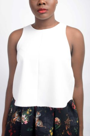KOTON HALF CIRCLE CROP TOP