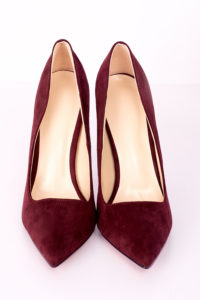 SUEDE MAROON COURT SHOES