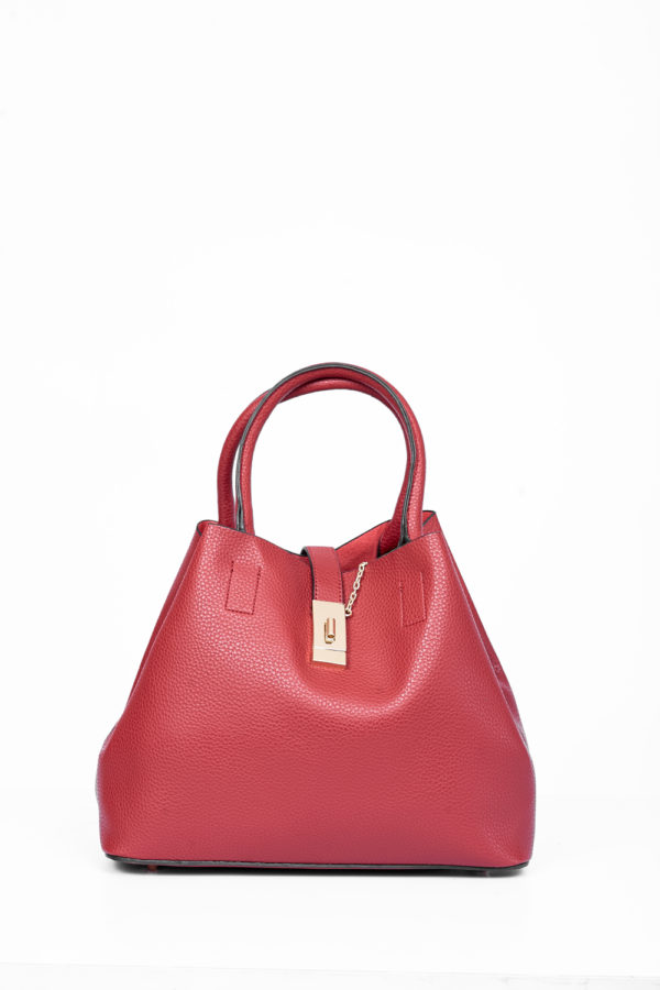 HOOK & TWISTLOCK HANDBAG - WINE