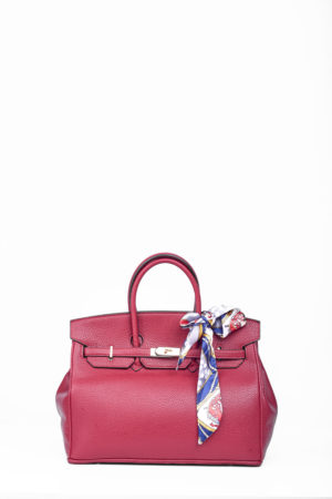 BIG TWISTLOCK TOTE BAG - BURGUNDY