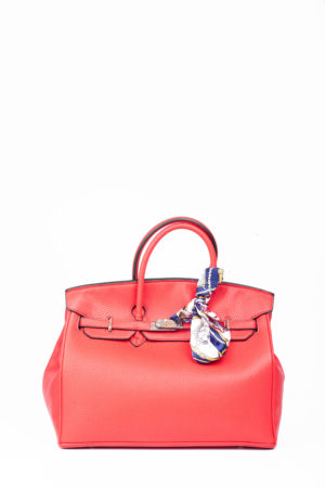 BIG TWISTLOCK TOTE BAG - POPPY RED