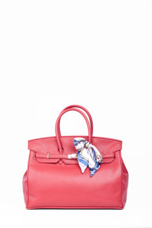 BIG TWISTLOCK TOTE BAG - RED