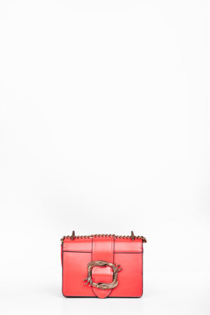 SNAKE BUCKLE MINI CHAIN BAG - RED