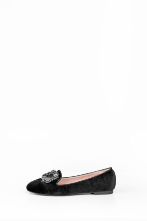 WAGCHIC EMBELLISHED BOYFRIEND LOAFERS - BLACK