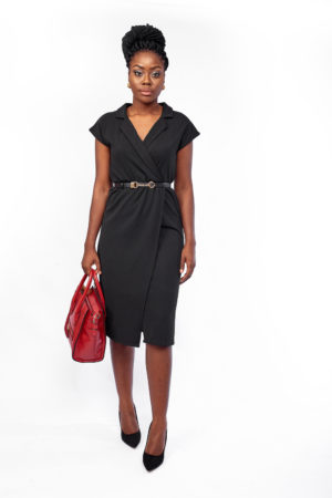 WAGCHIC STRETCH COLLARED DRESS