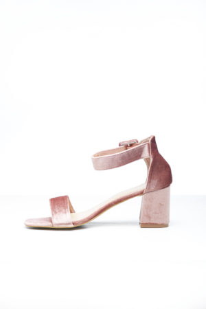 BIG BAND SLANTED BLOCK HEEL - PINK