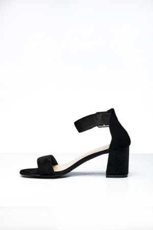 BIG BAND SLANTED BLOCK HEEL - BLACK