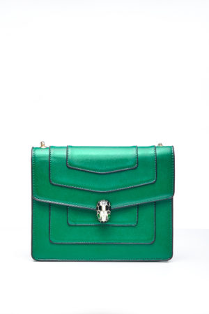 PANEL CHAIN BAG WITH BALL CLIP - GREEN