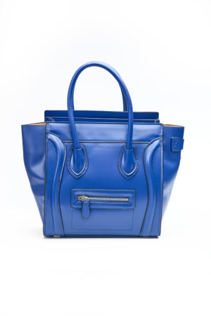 PIPED WING TOTE BAG - BLUE