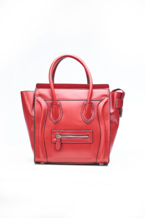 PIPED WING TOTE BAG - RED