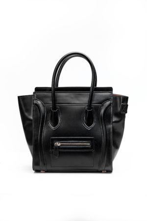 PIPED WING TOTE BAG - BLACK