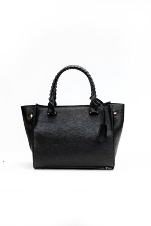 MINI BAG WITH SIDE BUTTONS - BLACK
