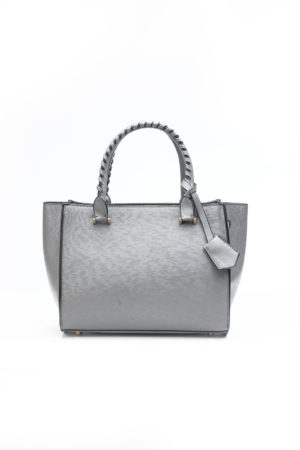 MINI BAG WITH SIDE BUTTONS - GREY