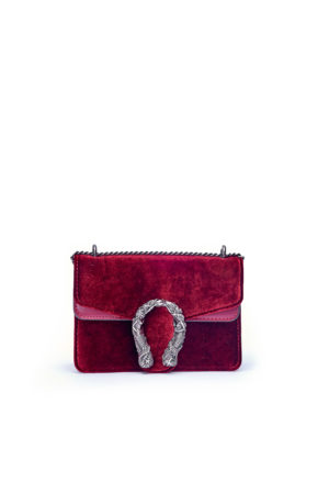 VELVET MERMAID MINI CHAIN BAG - MAROON