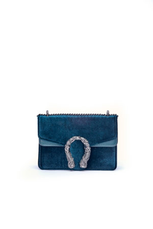 VELVET MERMAID MINI CHAIN BAG - TEAL