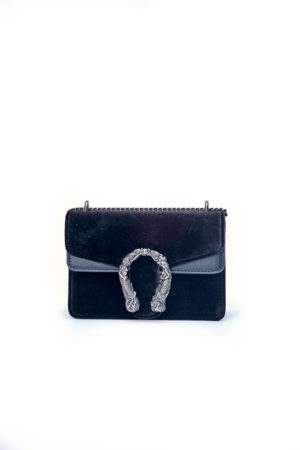 VELVET MERMAID MINI CHAIN BAG - BLACK