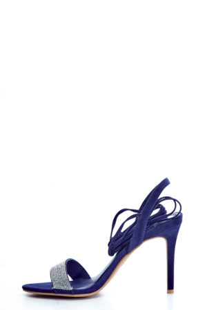 EMBELLISHED WRAP AROUND SANDALS - COBALT BLUE