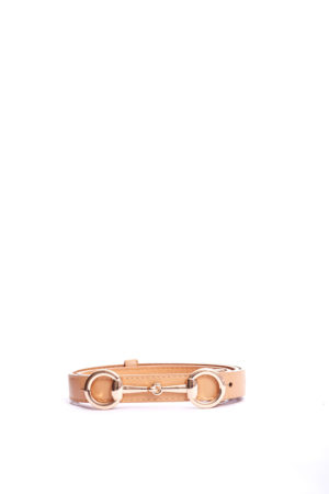 SNAFFLE HEAD SLIM BELT - NUDE