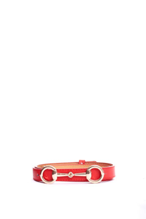 SNAFFLE HEAD SLIM BELT - RED
