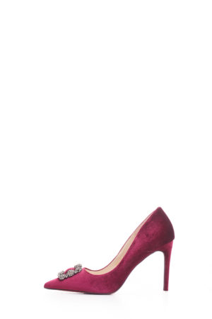 WAGCHIC CALX BUCKLE COURT SHOE - MAROON