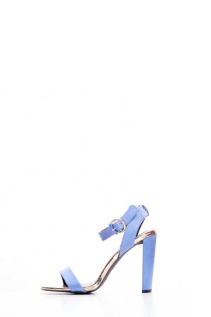 (2 FOR 15K) SATIN ELSI BLOCK HEEL SANDALS - BLUE