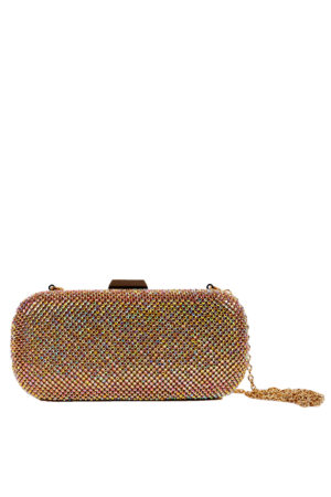 GOLD SHEET LUMINOUS CASE CLUTCH