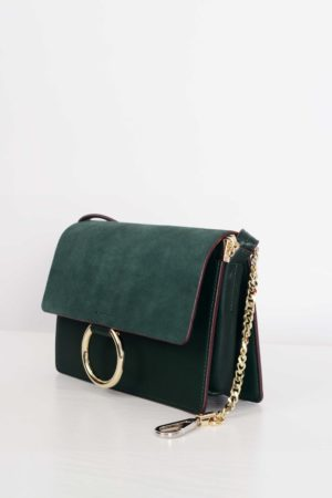 GREEN MINI ROUND HOOK BAG