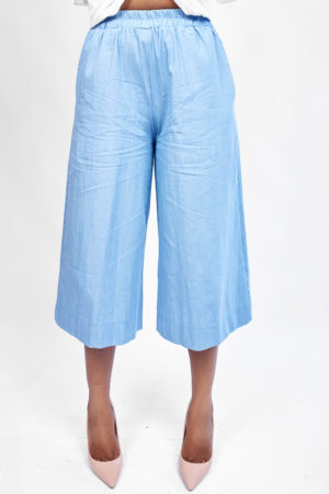 DENIM CULOTTES - LIGHT WASH
