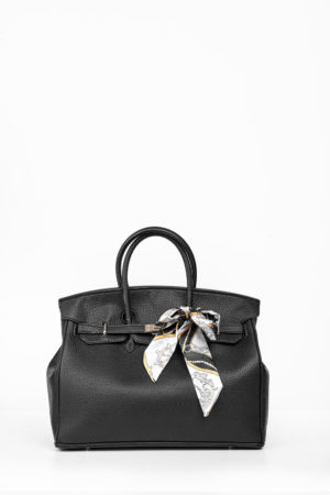 BIG TWISTLOCK TOTE BAG - BLACK