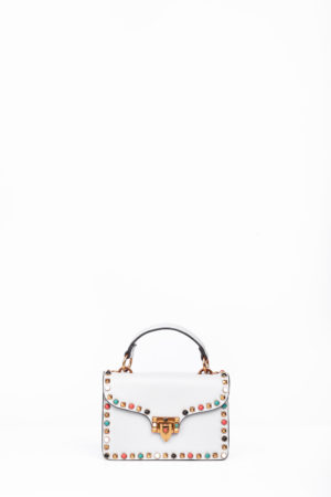 BOX MULTI COLORED STUD CLIP BAG - GREY