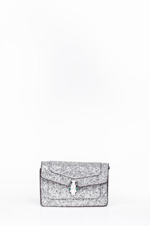 GLITTER BALL HEAD MINI BAG - SILVER