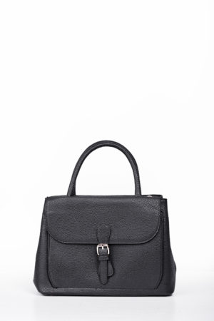 FLAP BUCKLE BAG - BLACK