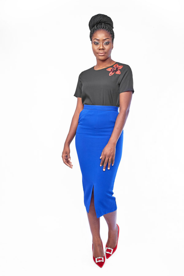 wagchic pencil skirt cobalt blue debras grace