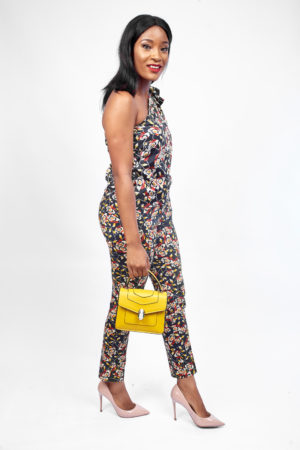 KOTON RED AND YELLOW FLORAL PRINT MONOSTRAP BLOUSE