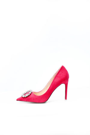 ROUND BUCKLE COURT SHOE - FUCHSIA PINK