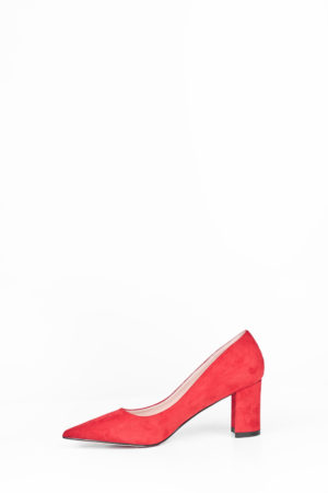 MIDI BLOCK COURT SHOE - RED