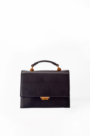 FLAP CLIP BOX BAG - BLACK
