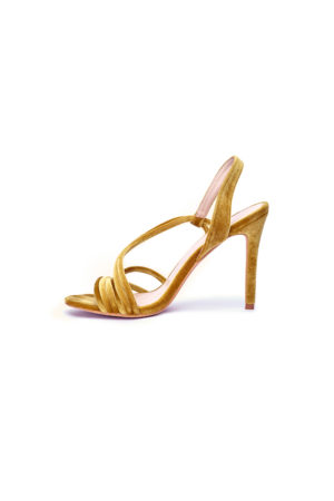 MULTI STRAP SLING SANDALS - YELLOW
