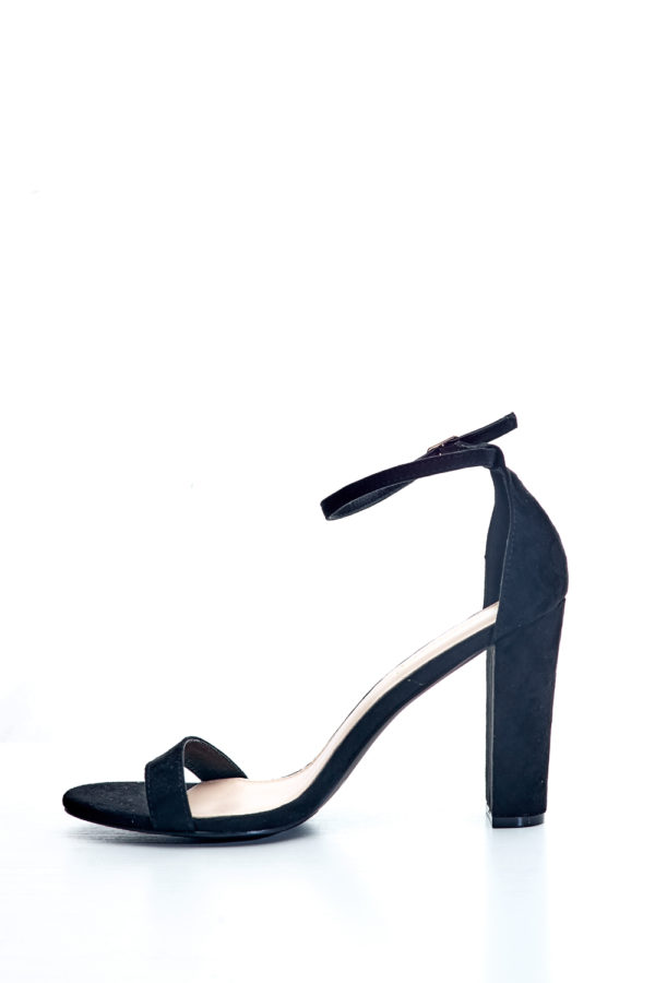 Gracie Suede Block Heel Sandals