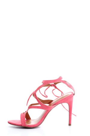MULTISTRAP ANKLE TIE SANDALS - CORAL