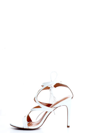 MULTISTRAP ANKLE TIE SANDALS - WHITE